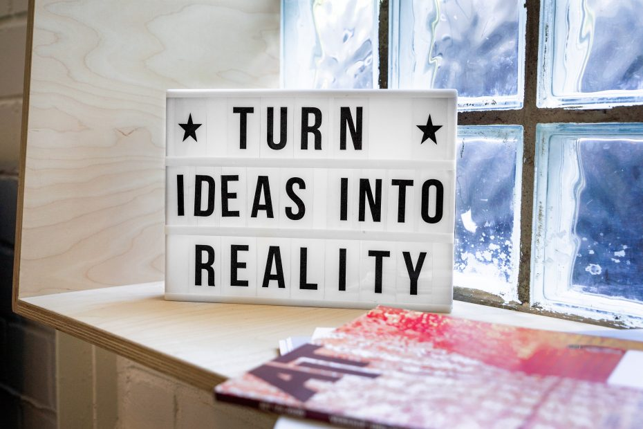 Image that inspires entrepreneurs to turn ideas into reality.
